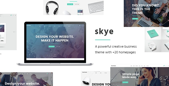 Skye - Contemporary Theme for Creative Business - Corporate WordPress