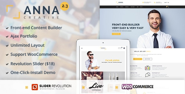 Anna - Creative Multipurpose WordPress Theme - Corporate WordPress