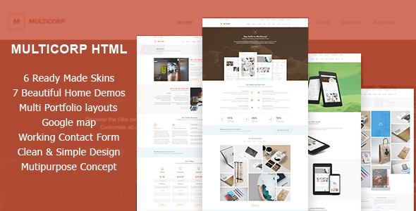 Multicorp  - Clean Agency HTML Theme - Corporate Site Templates