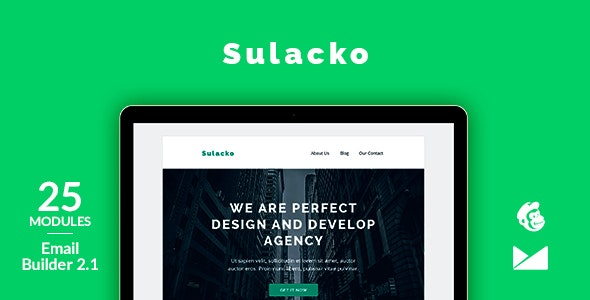 Sulacko Email Template + Online Emailbuilder 2.1 - Newsletters Email Templates