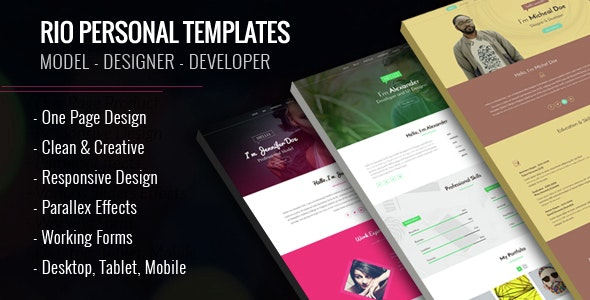 Rio Personal Muse Templates - 3 Variations - Personal Muse Templates