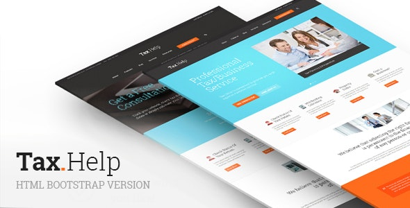 TaxHelp | Finance & Accounting Site Template - Business Corporate