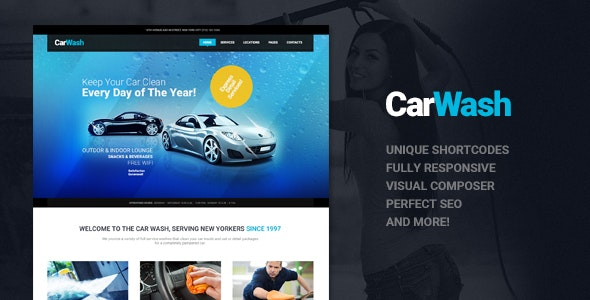 Car Wash, Auto Mechanic & Repair Shop WordPress Theme - Business Corporate