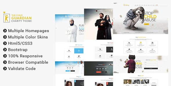 The Child Guardian - HTML Template for Charity, Mosque and Church