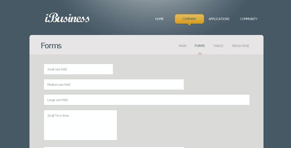 iBusiness XHTML & CSS Theme