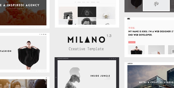 Milano - Creative Template for Professionals - Site Templates