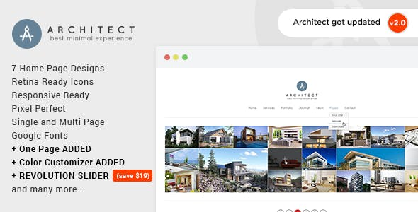 Kiến trúc sư - Cơ quan Sáng tạo Wordpress Theme