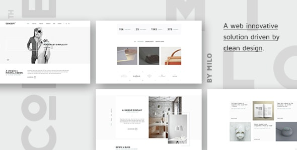 Concept - Design-Driven Multipurpose HTML5 Template - Business Corporate