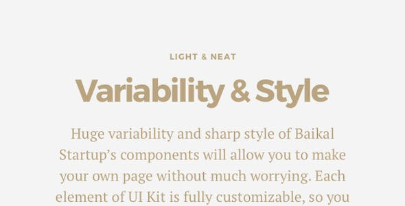 Baikal Startup - 130+ Components for Sketch