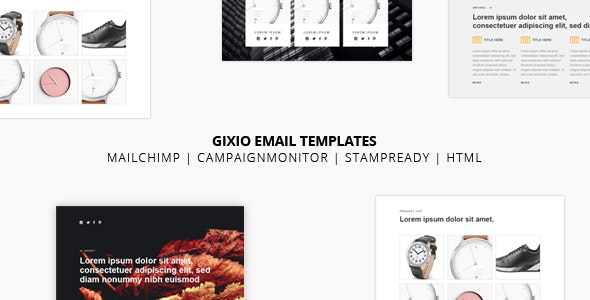 Gixio - Responsive Email Templates - Newsletters Email Templates