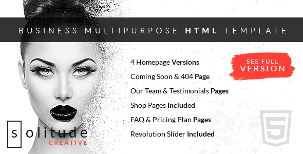 Solitude Business Multi-Purpose HTML Template - Corporate Site Templates