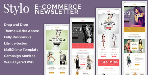 Stylo - Ecommerce Newsletter + Builder Access - Email Templates Marketing