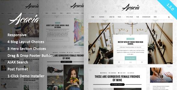 Acacia | Classy & Responsive WordPress Blog Theme - Personal Blog / Magazine