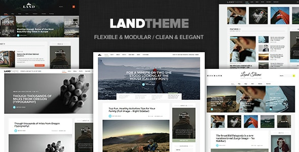 Land - Multi Topic Personal WP theme - Personal Blog / Magazine