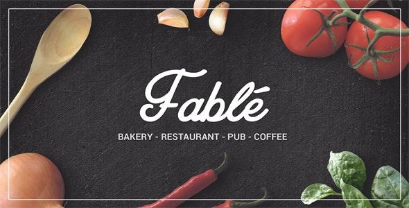 Fable - Bakery / Coffee / Pub / Restaurant Site Template - Restaurants & Cafes Entertainment