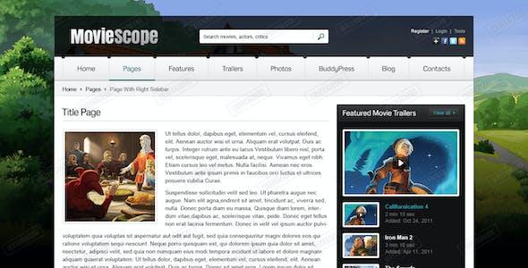 MovieScope PSD Template