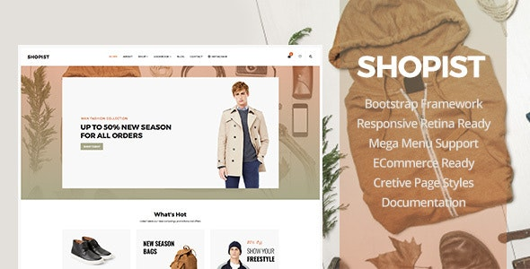 Shopist - Responsive Stylish Site eCommerce Template - Fashion Retail