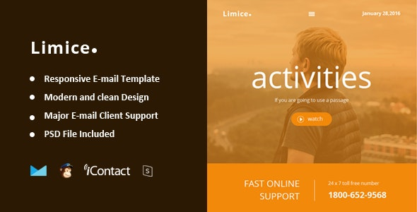 Limice - Responsive E-mail Template + Online Access - Email Templates Marketing