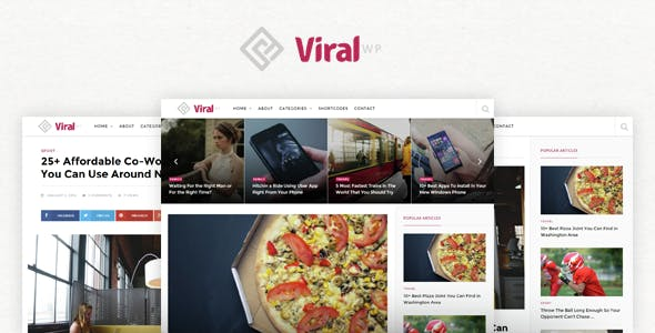 ViralWP -  Buzz News & Blog WordPress Theme