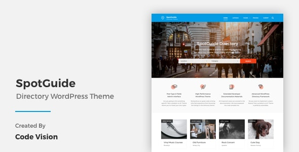 SpotGuide - High Performance Directory WordPress Theme - Directory & Listings Corporate