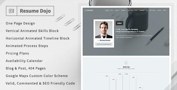 ResumeDojo - Resume & Portfolio HTML Premium Theme - Resume / CV Specialty Pages