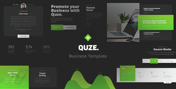 QUZE. — Business PSD Template - Business Corporate