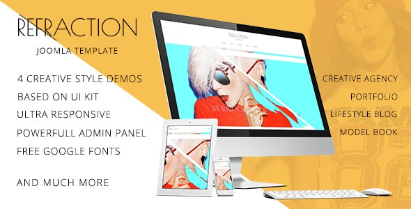 Refraction — Creative Agency and Blog Responsive Joomla Multipurpose Template with 4 Demo - Miscellaneous Joomla