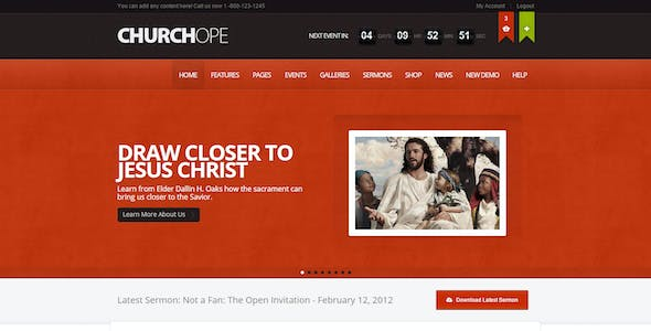 Church WordPress Themes from ThemeForest