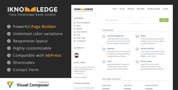 iKnowledge - Knowledge Base / Wiki WordPress Theme - Miscellaneous WordPress