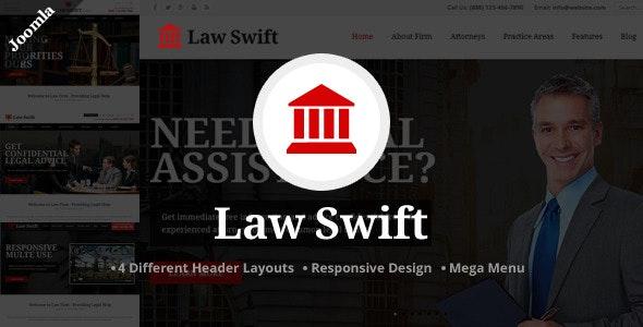 Law Swift - Lawyer & Notary Joomla Template - Corporate Joomla