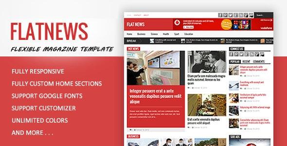 FlatNews - Magazine HTML Template  - Entertainment Site Templates