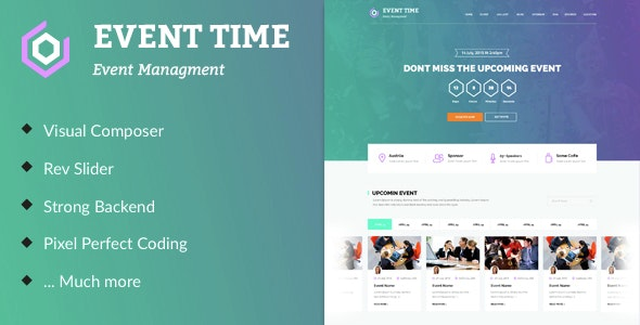 Event Time - Conference & Event WordPress Theme - Events Entertainment