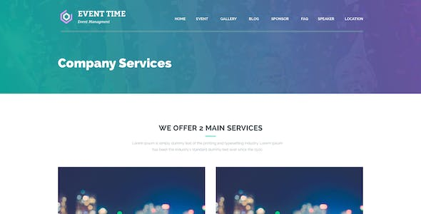 Event Time - Conference & Event WordPress Theme