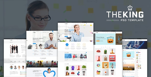 TheKing | Multipurpose Business Agency PSD Template - Corporate PSD Templates