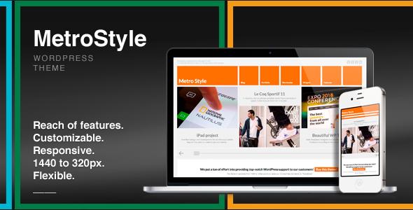 MetroStyle Responsive All Purpose WordPress Theme - Business Corporate