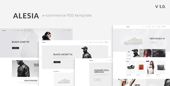 ALESIA - eCommerce PSD Template - Retail PSD Templates