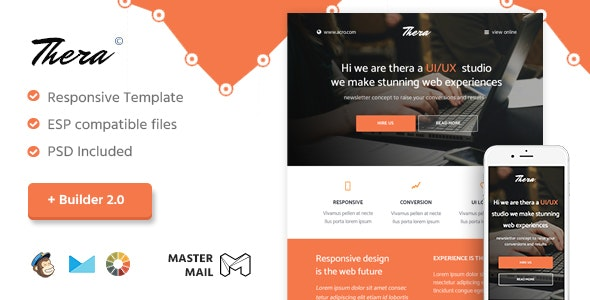 Thera - Responsive Email Template + Builder 2.0 - Email Templates Marketing
