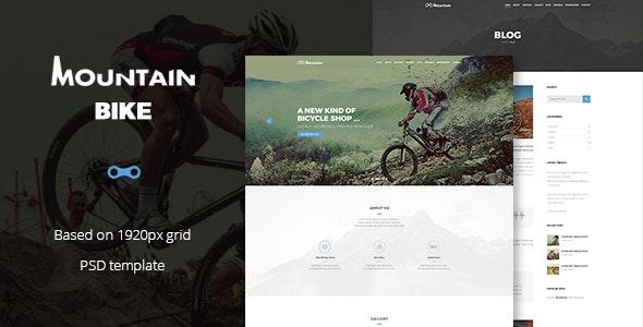 Mountain Bike - Extreme Sport Club Template - Retail Photoshop