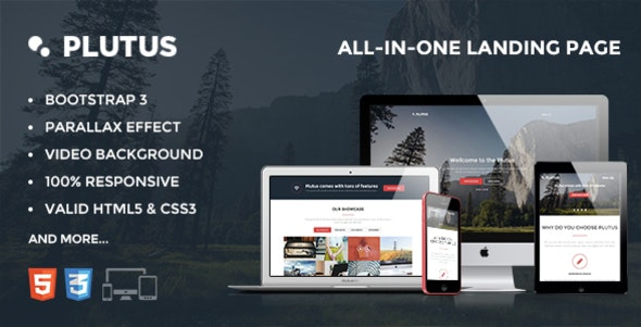 Plutus - All-in-One landing page - Creative Site Templates