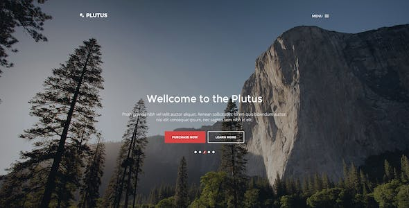 Plutus - All-in-One landing page