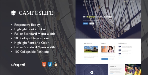 Campus Life - Responsive Education Template - Miscellaneous Joomla