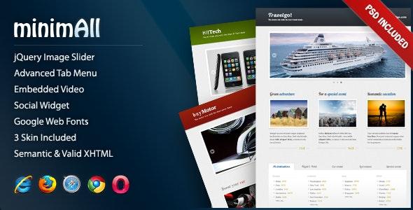 minimAll Landing Page - Retail Landing Pages