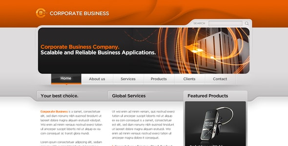 Business Template #06 - Corporate Photoshop
