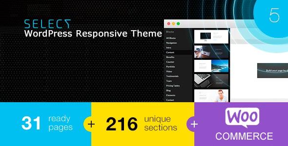 Select - Responsive Landing Page WordPress Theme - Marketing Corporate