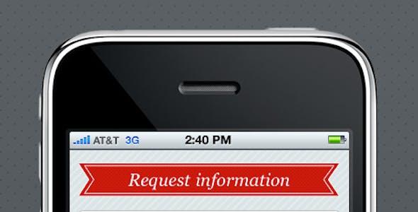 Mobi iPhone Landing Page