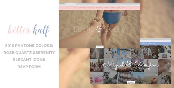Better Half - Responsive Wedding HTML Template