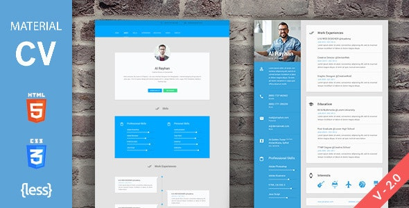 Material CV/Resume - Resume / CV Specialty Pages
