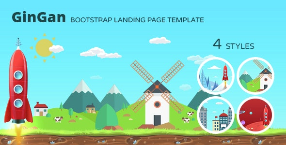 GinGan - Bootstrap Landing Page Template - Marketing Corporate