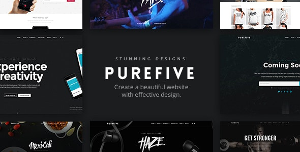 Purefive - Multipurpose HTML5 Template - Corporate Site Templates