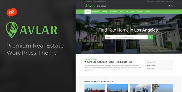 Avlar - Real Estate Theme - Real Estate WordPress